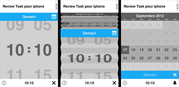La sublime interface de task pour iphone
